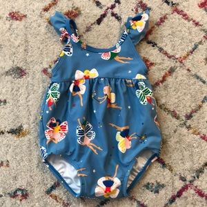 Hanna Andersson 6-12M fairy swimsuit.